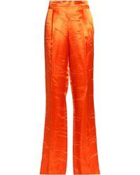 Emilio Pucci - Satin Straight-leg Pants - Lyst