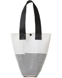 Truss Le Sac Leather-trimmed Woven Raffia-effect Shoulder Bag White