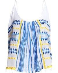 lemlem - Printed Cotton-gauze Top - Lyst
