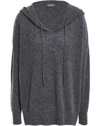 N.Peal Cashmere Cashmere Hooded Jumper Dark Grey