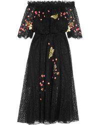 Temperley London - Leo Off-the-shoulder Embroidered Lace Midi Dress - Lyst