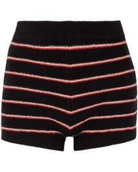 Sonia Rykiel - Woman Striped Cotton-blend Terry Shorts Black - Lyst