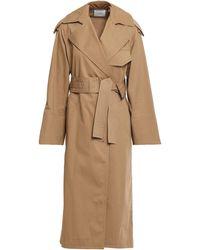 Vince Cotton-gabardine Trench Coat Camel - Natural