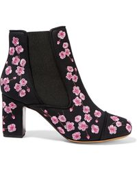 Tabitha Simmons - Micki Blossom Embroidered Ankle Boots - Lyst