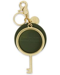 See By Chloé See By Chloé Gold-tone And Pvc Keychain - Green