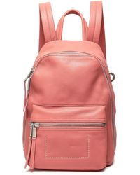 Rick Owens Textured-leather Backpack Antique Rose - Pink