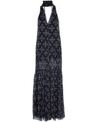 Caroline Constas - Ruffle-trimmed Printed Silk-chiffon Jumpsuit - Lyst