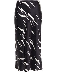 Reformation Silk-satin Midi Skirt - White