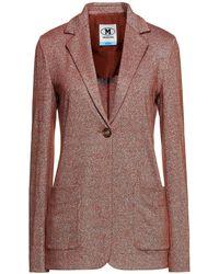 M Missoni Metallic Stretch-knit Blazer - Brown