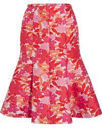 Michael Kors - Floral-jacquard Skirt - Lyst