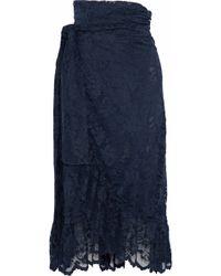 Ganni - Flynn Lace Midi Wrap Skirt - Lyst