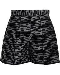 Victoria, Victoria Beckham Metallic Cotton-blend Jacquard Shorts - Black