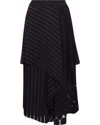 Diane von Furstenberg - Cloqué-paneled Jacquard Silk-organza Midi Skirt - Lyst