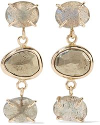 Melissa Joy Manning - 14-karat Gold, Labradorite And Pyrite Earrings - Lyst