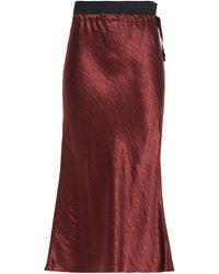 Ann Demeulemeester Crinkled-satin Midi Skirt - Red