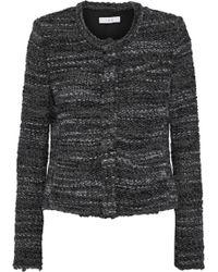 IRO - Woman Carene Bouclé-tweed Jacket Anthracite - Lyst