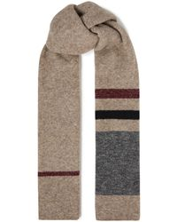 James Perse Striped Mélange Knitted Scarf - Multicolour