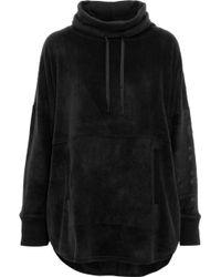 DKNY Panelled Herringbone Flannel Pyjama Top Black