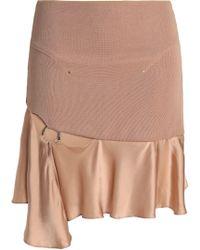Esteban Cortazar - Cutout Embellished Satin And Stretch-knit Mini Skirt - Lyst