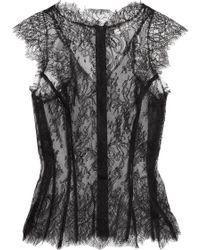 Natasha Zinko Corded Lace Top - Black