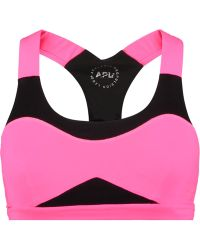 Athletic Propulsion Labs | Neon Mesh And Stretch-knit Sports Bra | Lyst