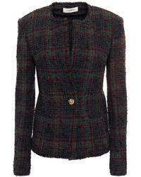 Étoile Isabel Marant Wool-blend Bouclé-tweed Jacket Dark Grey