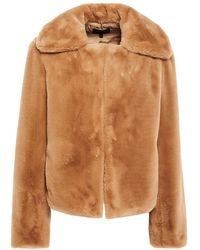 Theory Luxe Faux Fur Jacket - Natural