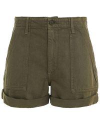 Reformation Denim Shorts Army Green