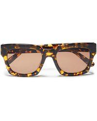 Ganni Alice Square-frame Tortoiseshell Acetate Sunglasses - Brown