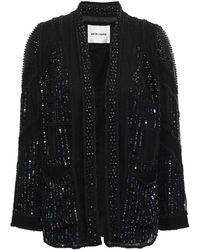 Antik Batik Birma Embellished Georgette Jacket Black