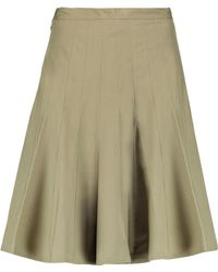 Marc By Marc Jacobs - Pleated Stretch-cotton Skirt - Lyst