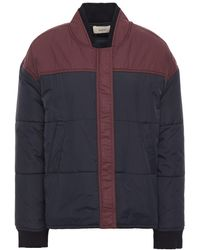 Ba&sh Douce Two-tone Quilted Shell Jacket Storm Blue