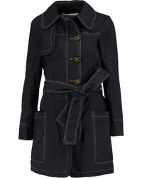 See By Chloé Cotton-twill Trench Coat - Blue