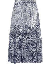 See By Chloé Printed Silk-organza Maxi Skirt - Blue
