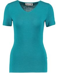 Pringle of Scotland - Wool, Silk And Cashmere-blend Top - Lyst
