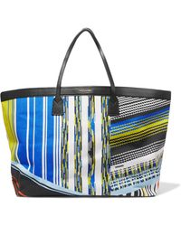 Missoni - Leather-trimmed Jacquard Tote - Lyst