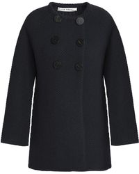 Goat - Double-breasted Wool-blend Coat - Lyst