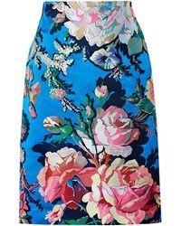 Dries Van Noten - Floral-jacquard Skirt - Lyst