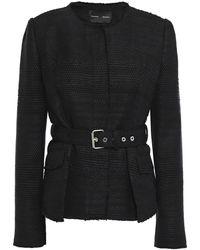 Proenza Schouler Frayed Tweed Jacket Black