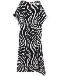 Emilio Pucci - Zebra-print Silk Kaftan Animal Print - Lyst
