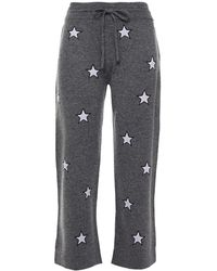 Chinti & Parker Intarsia Wool And Cashmere-blend Track Pants - Grey