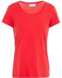 Ernest Leoty Emilie Stretch- And Cotton-blend Jersey T-shirt - Red