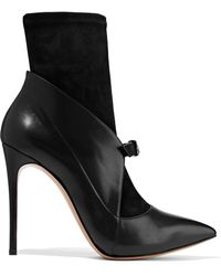Casadei - Vittoriale Suede And Leather Ankle Boots - Lyst