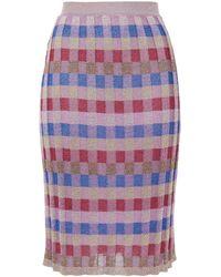 M Missoni Metallic Jacquard-knit Skirt - Multicolour