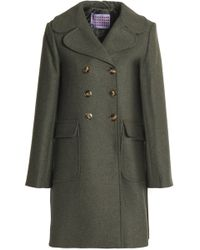 ALEXACHUNG - Double-breasted Wool-blend Coat - Lyst
