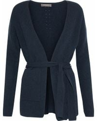 N.Peal Cashmere - Belted Ribbed Cashmere Cardigan - Lyst