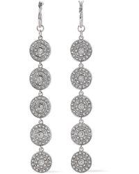 Luv Aj - Woman Silver-tone Crystal Earrings Silver - Lyst