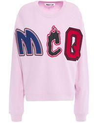 McQ Appliquéd French Cotton-terry Sweatshirt Baby Pink