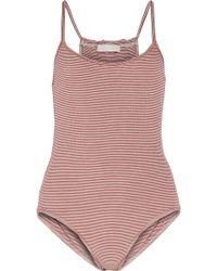 Kain - Marielle Striped Stretch-modal Bodysuit - Lyst