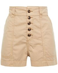 Ba&sh Beleme Cotton-twill Shorts - Natural